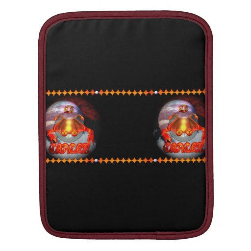 Valxart Gothic Cancer zodiac astrology Sleeves For iPads