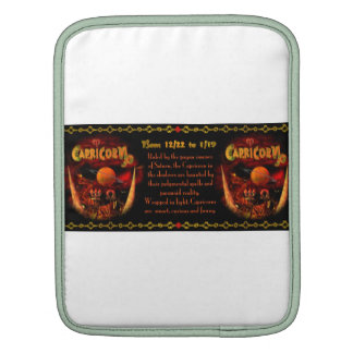 Valxart gothic Capricorn zodiac astrology iPad Sleeve