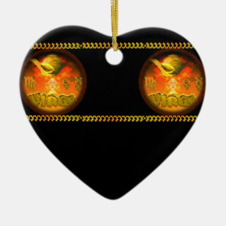 Valxart Gothic Virgo zodiac astrology Ceramic Heart Decoration