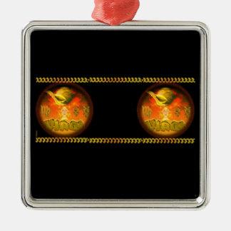 Valxart Gothic Virgo zodiac astrology Silver-Colored Square Decoration