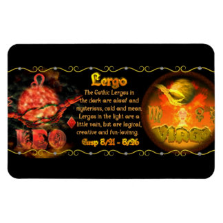 Valxart Gothic zodiac born Leo Virgo Cusp Magnet