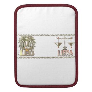 Valxart Leo Libra  zodiac astrology friendship Sleeve For iPads