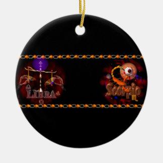 Valxart Libra Scorpio zodiac Cusp or 2 sign Round Ceramic Decoration