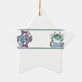 Valxart Pisces Cancer astrology friendship Christmas Ornament