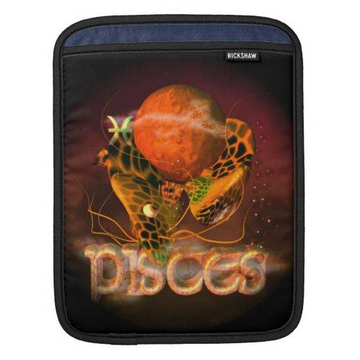 Valxart Pisces creepy zodiac astrology horoscope Sleeve For iPads