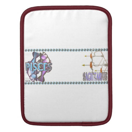 Valxart Pisces Sagittarius zodiac friendship Sleeves For iPads
