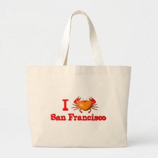 Valxart San Francisco events  crab designs Jumbo Tote Bag
