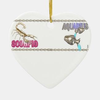 Valxart Scorpio Aquarius astrology friendship Ceramic Heart Decoration