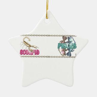 Valxart Scorpio Pisces zodiac friendship Christmas Tree Ornament