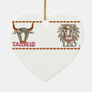 Valxart Taurus Leo zodiac astrology friendship Ceramic Heart Decoration