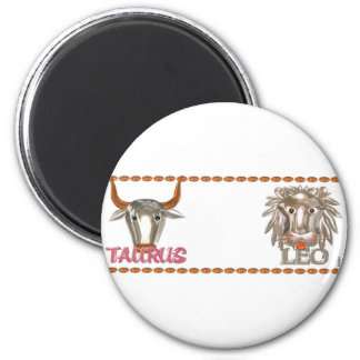 Valxart Taurus Leo zodiac friendship gifts Magnet