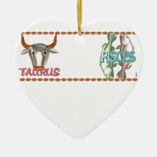 Valxart Taurus Pisces zodiac astrology friendship Ceramic Heart Decoration