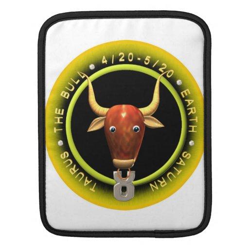 Valxart Taurus zodiac logo iPad Sleeve