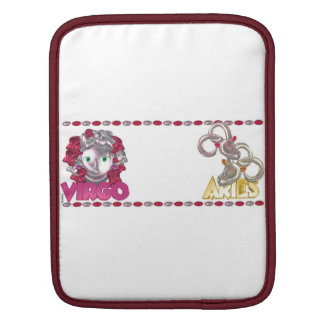 Valxart Virgo Aries zodiac astrology friendship iPad Sleeves