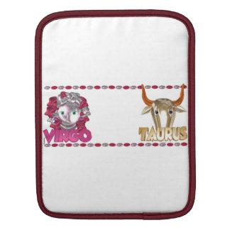 Valxart Virgo Taurus zodiac astrology friendship iPad Sleeves
