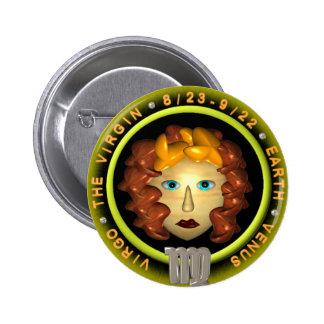 Valxart Virgo zodiac logo Buttons