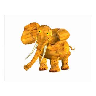Valxart wood elephant  zodiac friendship coffee mu postcard