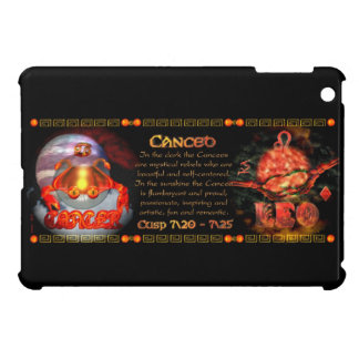 Valxart zodiac Born on Cusp Cancer Leo iPad Mini Cases