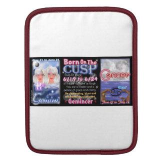 Valxart zodiac Cusp born Gemine Cancer iPad Sleeve