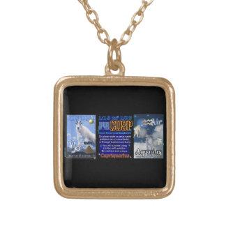 Valxart Zodiac Cusp Capricorn Aquarius Gold Plated Necklace
