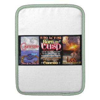 Valxart zodiac Cusp of Cancer Leo iPad Sleeve