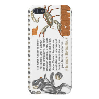 ValxArt Zodiac Scorpio Metal Monkey 1980 1920 Cases For iPhone 5
