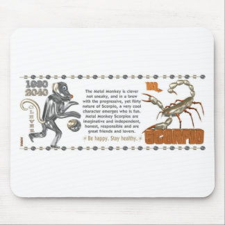 ValxArt Zodiac Scorpio Metal Monkey 1980 1920 Mouse Pad
