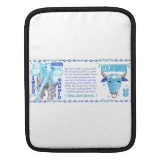 Valxart's 1973 2033 Zodiac WaterBull born Taurus iPad Sleeves