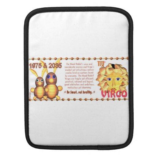 Valxart's 1975 WoodRabbit zodiac born Virgo Sleeve For iPads