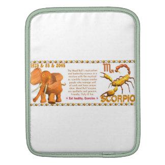 Valxart's 1985 zodiac wood bull born Scorpio iPad Sleeve