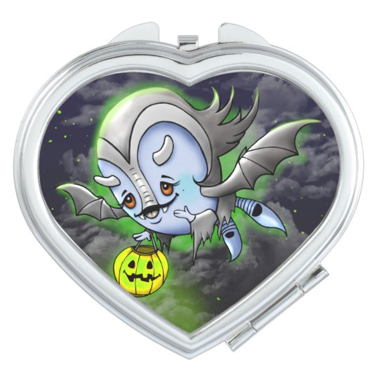 VAM BAKARA HALLOWEEN CARTOON compact mirror HEART