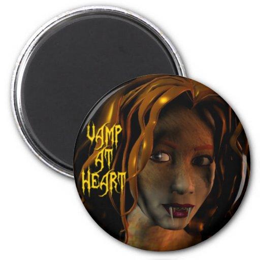 Vamp at Heart Refrigerator Magnet