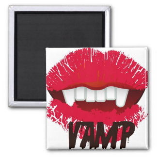 VAMP LIPS PRINT SQUARE MAGNET