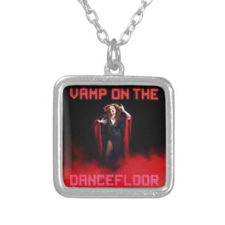 Vamp on the Dancefloor Silver Plated Necklace