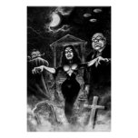 Vampira Plan 9 Ed Wood Print