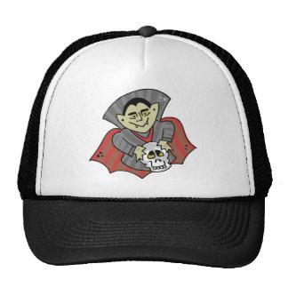 Vampire and Skull Trucker Hats