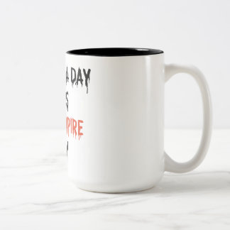 Vampire away Two-Tone coffee mug
