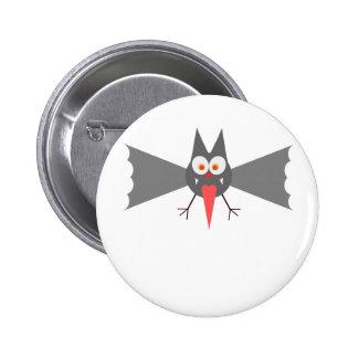 Vampire Bat by Chillee Wilson 6 Cm Round Badge