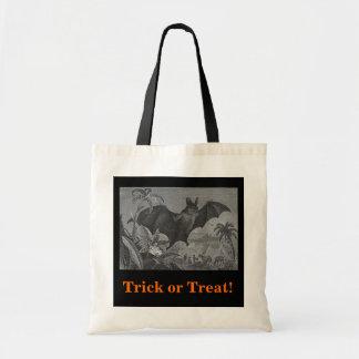 Vampire Bat Lithograph Tote Bag