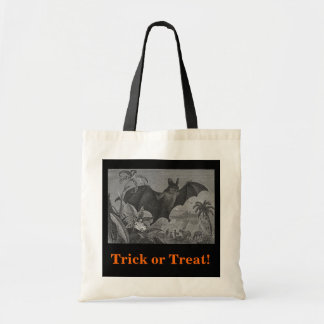 Vampire Bat Lithograph Budget Tote Bag