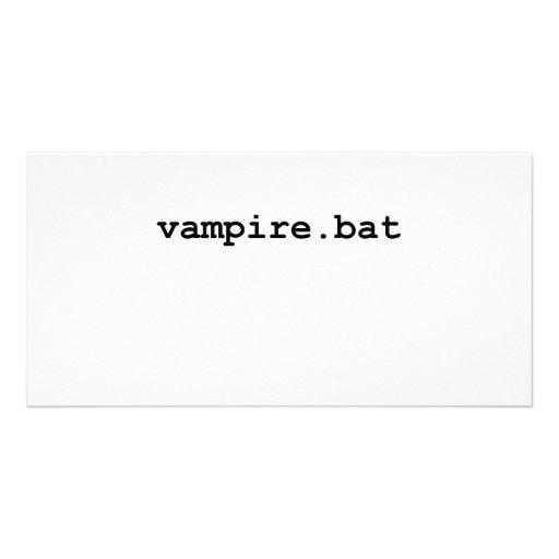 Vampire.bat Photo Card Template