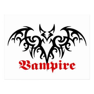 Vampire Bat tribal postcard