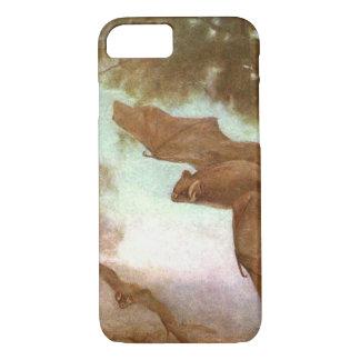 Vampire Bats by CE Swan, Vintage Wild Animal iPhone 8/7 Case