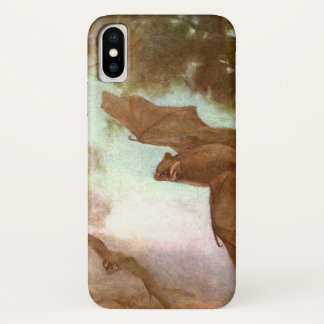 Vampire Bats by CE Swan, Vintage Wild Animal iPhone X Case