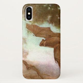 Vampire Bats by CE Swan, Vintage Wild Animal iPhone X Case