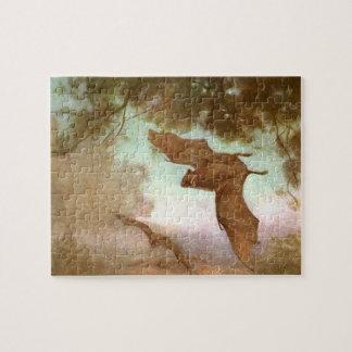 Vampire Bats by CE Swan, Vintage Wild Animal Puzzles