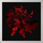 Vampire Bats Red Poster