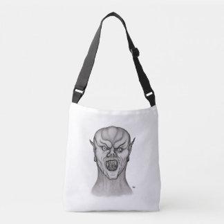 Vampire , Black and White Design Crossbody Bag