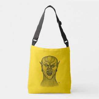 Vampire , Black and Yellow Design Crossbody Bag