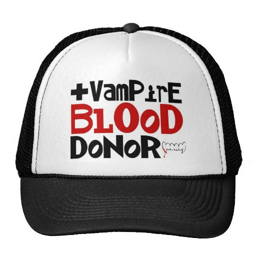 Vampire Blood Donor Hat